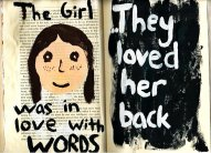 the girl was in love with words1