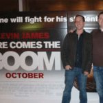 Zero Business Partners Brian Drewes, Zero VFX President, and Sean Devereaux, Zero's Visual Effects Supervisor following the Boston Premiere of HERE COMES THE BOOM at the AMC Loews Boston Common Theatre. An IMAGINE Photo.