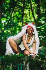 A great view of Princess Mononoke mask which would be awesome to create.