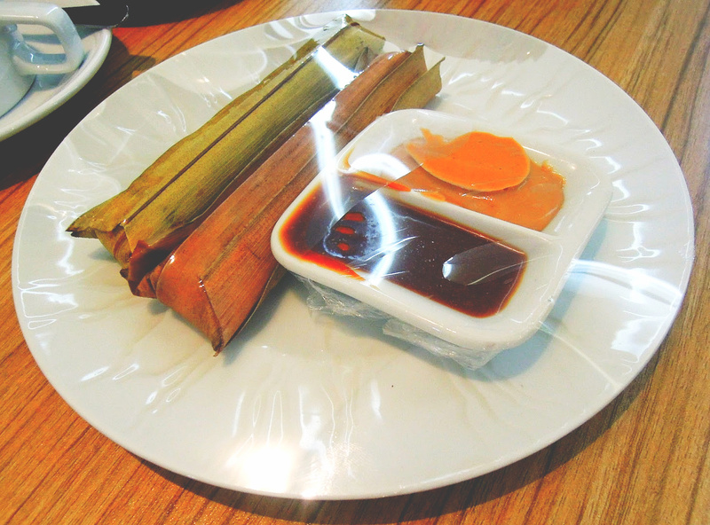 Suman de Baler, best when dipped in peanut butter and coco jam