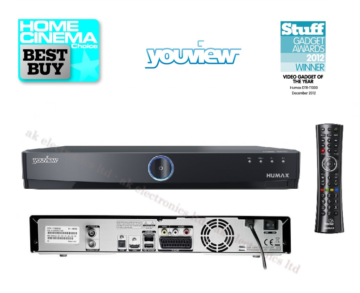 Humax Dtr T1000 500gb Youview Pvr Receiver Twin Tuner Freeview Hd Recorder Usb Ebay