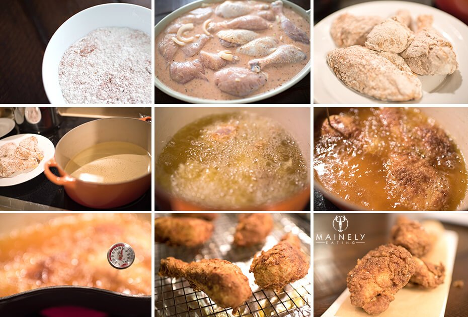 Recipe for perfect fried chicken, step by step pictures