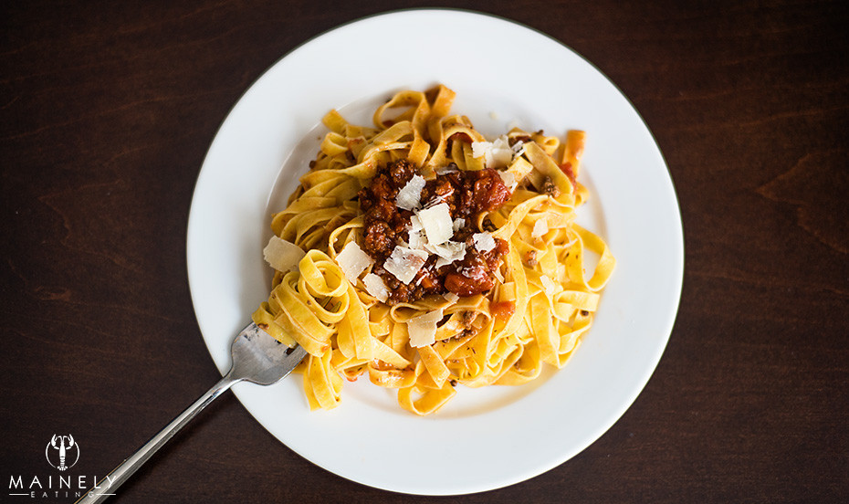 Ragu bolognese - rich and high in umami