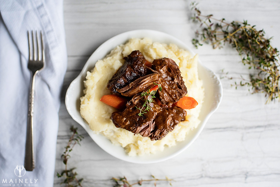 Beef short ribs braised in Irish stout