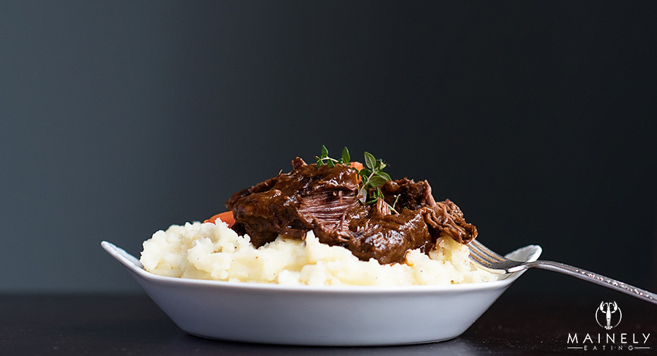 Melt-in-your-mouth short ribs in a rich Irish ale gravy