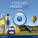 L'Occitene Provence sample kits after you have successfully complete 3 sets of photo