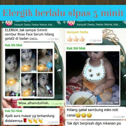 Rose Face Serum Zeeta testimoni