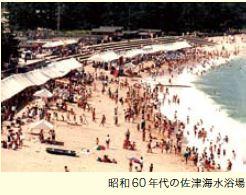 昭和60年代の佐津ビーチ