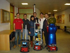 equipo de robótica da Universidade de Santiago