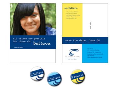 College Crusade Invite and Pins
