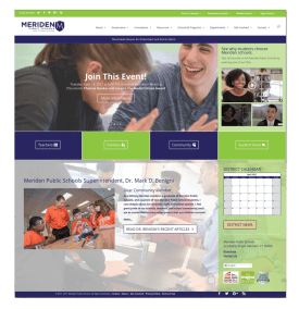 Meriden School District Website Home Page