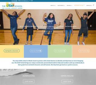 The UCAP School website Home Page