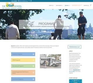 The UCAP School website programs page