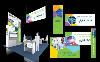 BRIDGE trade show booth collage 1
