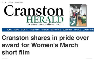 Cranston Herald Celebrates Our Short Film Award