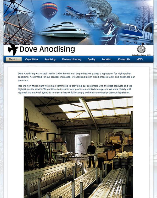 Web Design Thetford, Norfolk, Bury StEdmunds dove-anodising