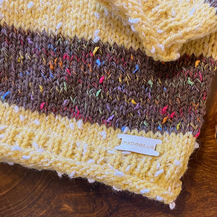 Our own Brimble Bee Jumpers and matching Brimble Bee Hats