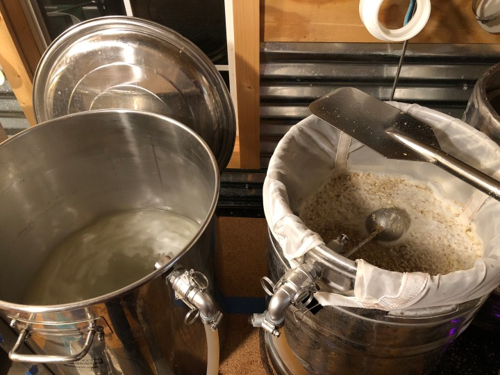 Mashing the hefeweizen