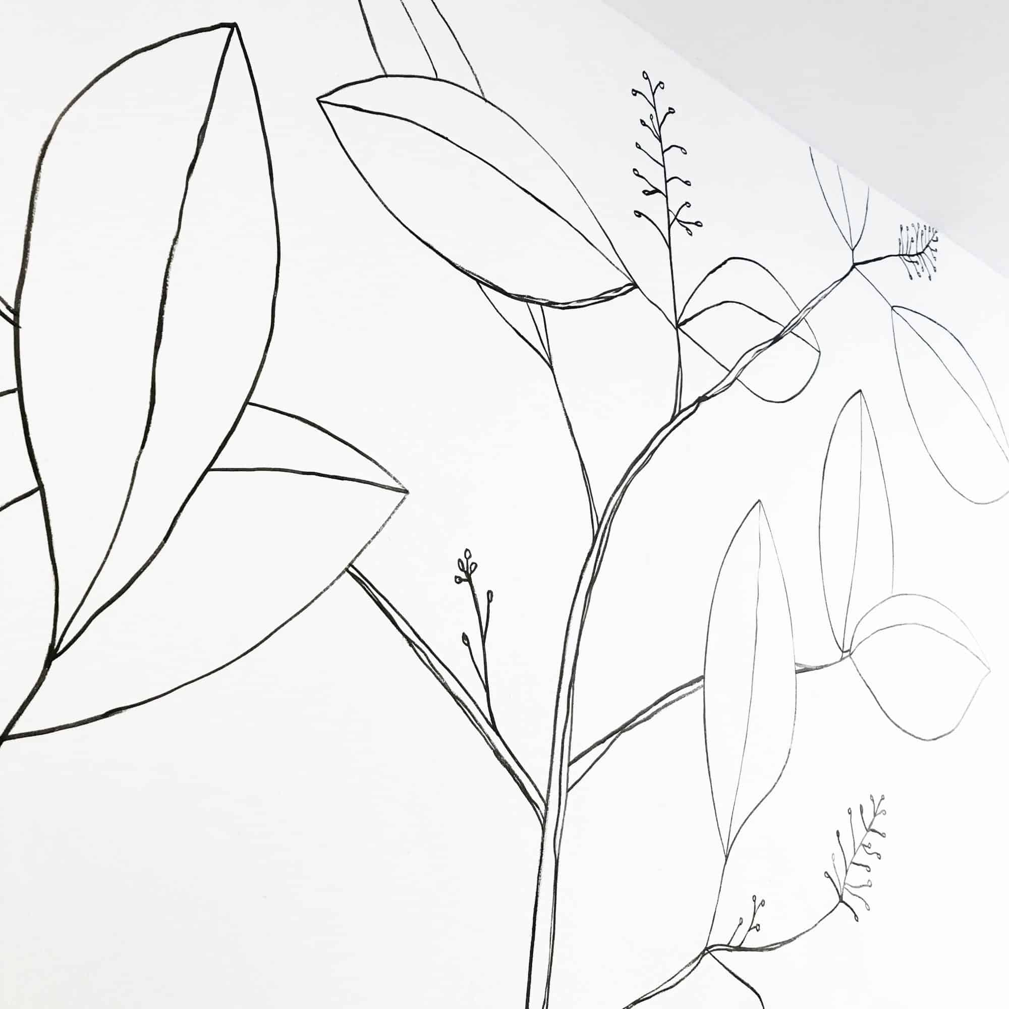 DIY met mij - botanische lijntekening | IMAKIN