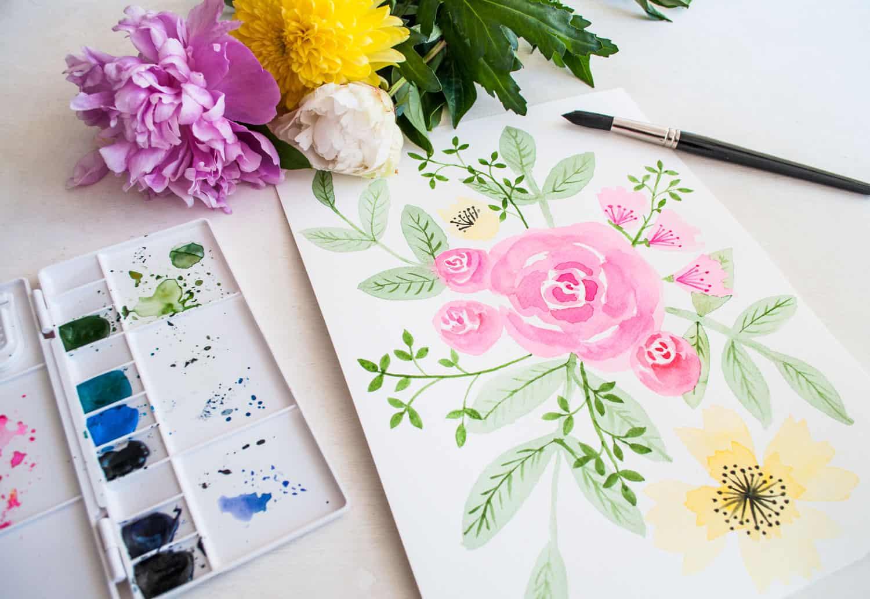 waterverf bloemen | IMAKIN
