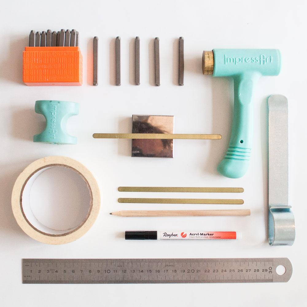 tekstarmband metaal stempelen | IMAKIN