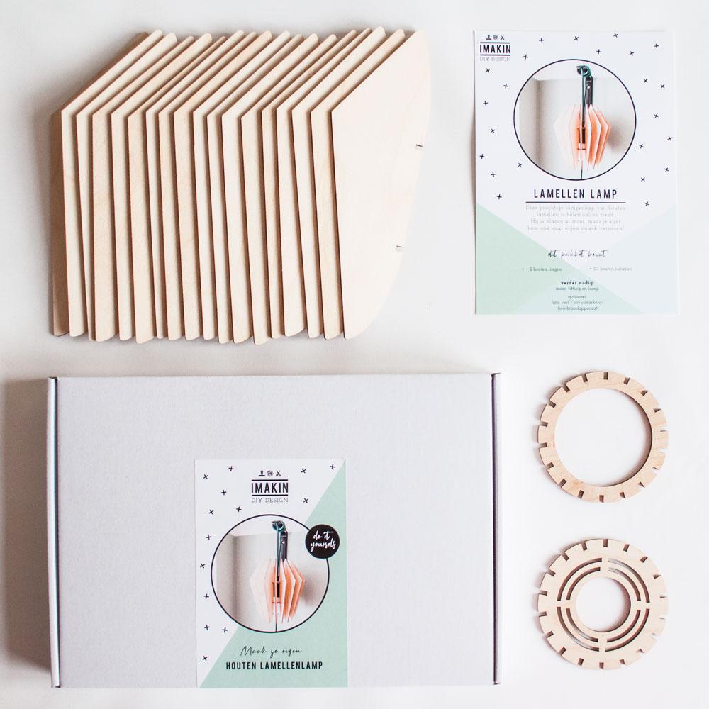 DIY-pakket Houten Lamellenlamp | IMAKIN