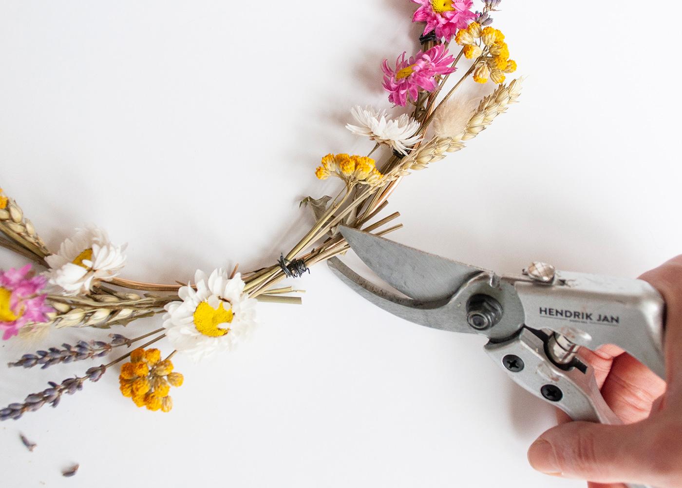 DIY Droogbloemenkrans | IMAKIN