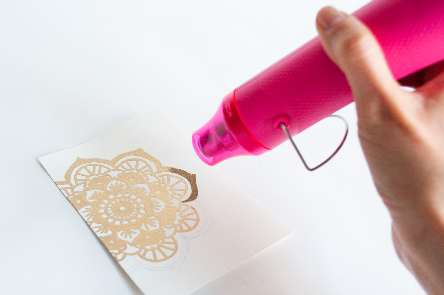 tutorial embossing poeder | IMAKIN