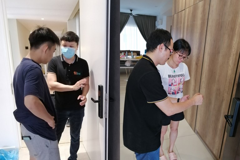 imt Smart Door Lock Handover Process