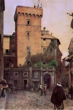 Ettore Roesler Franz, Torre della Scimmia, 1880