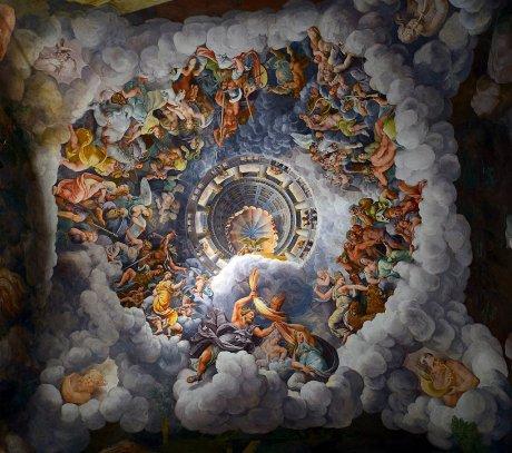 Sala dei Giganti, particolare del soffitto