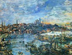 Oskar Kokoschka, Vista di Costantinopoli, 1929
