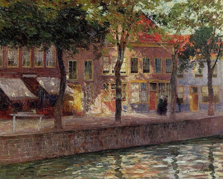 Emile Claus, Un canale in Zelanda, 1924
