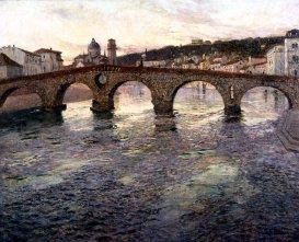 Frits Thaulow, Il fiume Adige a Verona, 1894