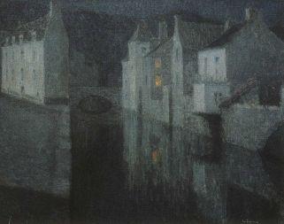 Henri Le Sidaner, Casa bianca a Quimperlé, 1909