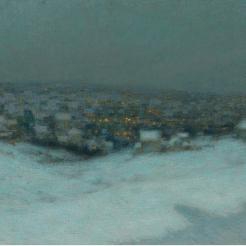Henri Le Sidaner, Neve al chiaro di luna, 1903