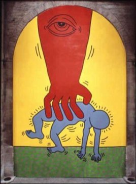 Keith Haring, I 10 Comandamenti, Tavola 3, 1985