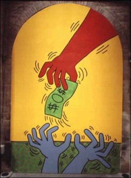 Keith Haring, I 10 Comandamenti, Tavola 6, 1985