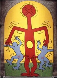 Keith Haring, I 10 Comandamenti, Tavola 10, 1985