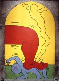 Keith Haring, I 10 Comandamenti, Tavola 8, 1985