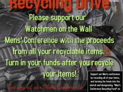 Imani Men's Conference Recycling Drive