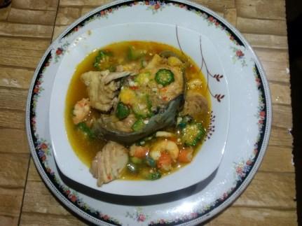 Fisherman Soup we ate in Calabar