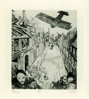 Otto Dix - Bombardeo de Lens