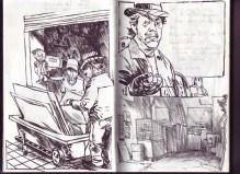 Barcelona. Los vagabundos de la chatarra. Jorge Carrión y Sagar. Apuntes de Sagar