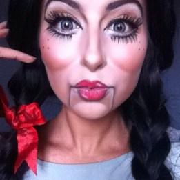 makeup poupée, makeup dol