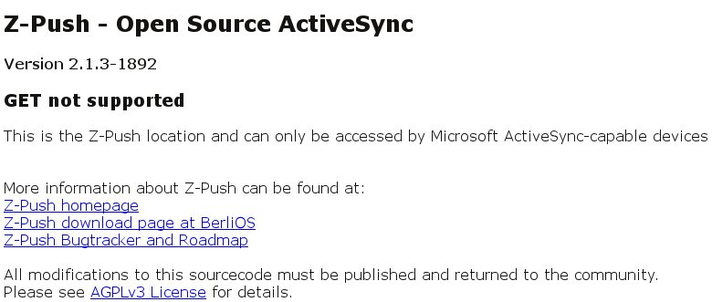 Z-Push-ActiveSync