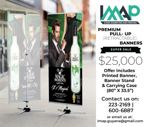 Retractable banners are easy to assemble, portable and