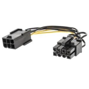 PCIe 6 Pin Female to 8 Pin Male Power Adapter 0.15m LINDY 33858