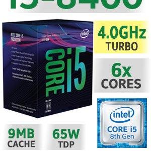 Processador INTEL I5 8400 1151 2.8 A 4.0G 9MB 6C6T 65W