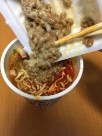 マツコで話題のカップラーメン『中本タンメンに納豆』をやってみた